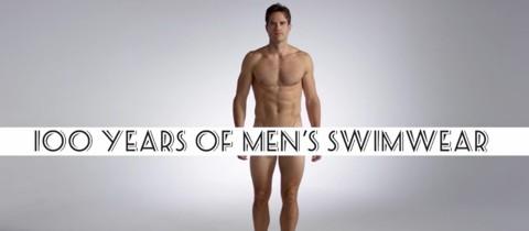 100 años de ropas de baño para hombre en 3 minutos